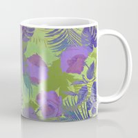 hawaiian Mugs featuring Hawaiian Purple by ALLY COXON