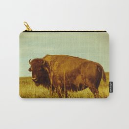 Vintage Bison - Buffalo on the Oklahoma Prairie Carry-All Pouch