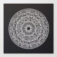 spiritual Canvas Prints featuring Spiritual Mandala by msimona