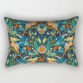 Victorian damask midnight Rectangular Pillow