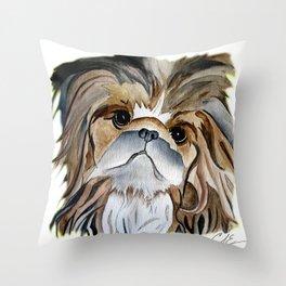 Pekingese Dog Love Dogs Throw Pillow