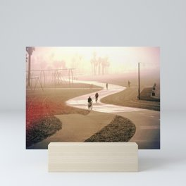 Foggy morning+ Sunrise Mini Art Print