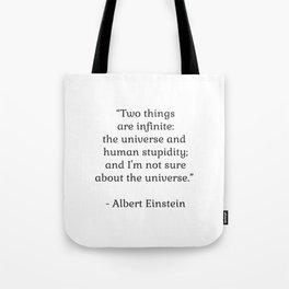 Albert Einstein QUOTE Tote Bag