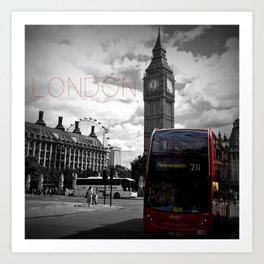 Sightseeing-London Art Print