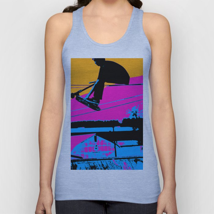 Tail Grabbing High Flying Scooter Unisex Tank Top