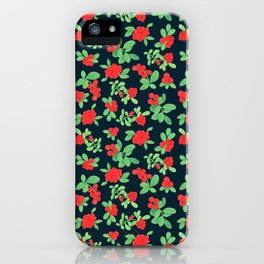Lingonberry (on Navy) iPhone Case