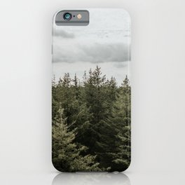 Dutch Forest Tree Tops   Colourful Travel Photography   Veluwe, Holland (The Netherlands) iPhone Case