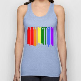 Arlington Virginia Gay Pride Rainbow Skyline Unisex Tank Top