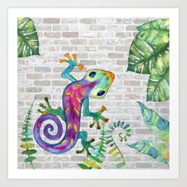 Tropical Gecko Art Print