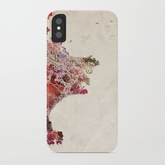 Yokosuka Map Japan Iphone Case By Mapmapmapswatercolors Society6