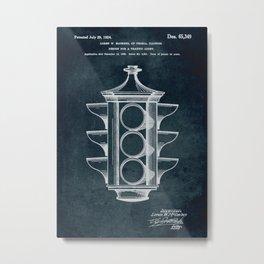 1923 Design for a traffic light patent art Metal Print