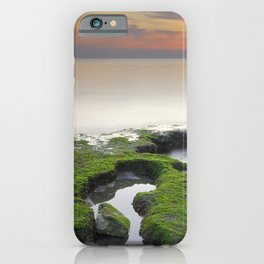 """Green, white and red beach"" iPhone Case"