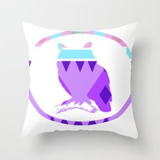 Aztek Owl Throw Pillow