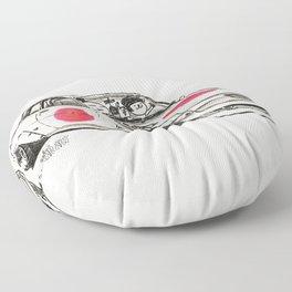 Crazy Car Art 0177 Floor Pillow