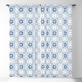 Blue Moroccan Tiles Bathroom Tile Decal Cottage Chic Oriental Kilim Art Decor Antique Tiles Moroccan Blackout Curtain
