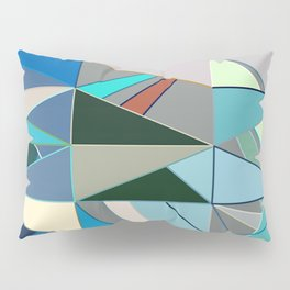 Mid-Century Modern Abstract, Turquoise and Neutrals Pillow Sham