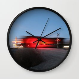 Blazing Through Wall Clock
