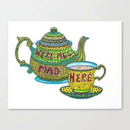 Tangled Tea Set Canvas Print