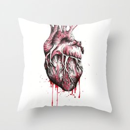 and put the heart I have laid bare Throw Pillow