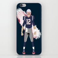 patriots iPhone & iPod Skins featuring Pats - Tom Brady by IllSports