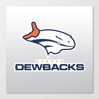 nfl Canvas Prints featuring Denver Dewbacks - NFL by Steven Klock