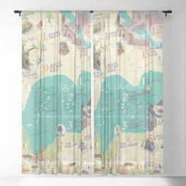 Princess Bride Discovery Map Sheer Curtain