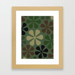 Abstract Flower Camouflage Framed Art Print