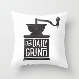 DAILY GRIND Throw Pillow