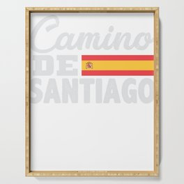 Camino De Santiago Way of Saint James Serving Tray