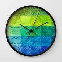 bali Wall Clocks featuring Bali Quilt by Catherine Holcombe