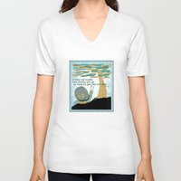 lee pace V-neck T-shirts featuring Set Your Pace by SueOdesigns