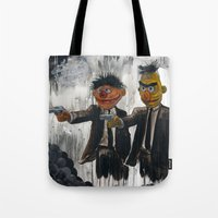 scary Tote Bags featuring Pulp Street by Beery Method