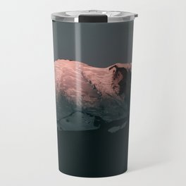 First Light on Mount Rainier Travel Mug