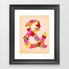 Flower Ampersand Framed Art Print
