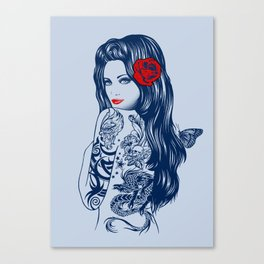 Tattoo Lolita Canvas Print