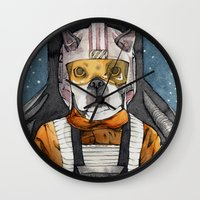 dexter Wall Clocks featuring Dexter by The-MoonSquid