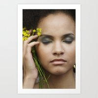 leah flores Art Prints featuring Leah by Paloma