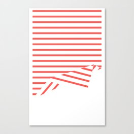 Line Fold Canvas Print