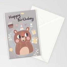Happy Birthday Bear! Stationery Cards