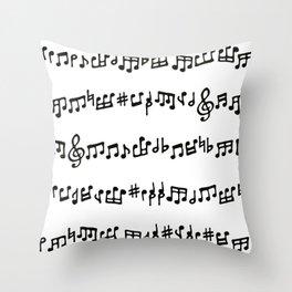 Noteworthy Throw Pillow