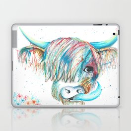Highland Cattle full of colour Laptop & iPad Skin