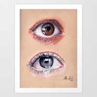 Warm and Cool Eyes Art Print