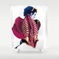 anatomy Shower Curtains featuring Anatomy 07a by Alvaro Tapia Hidalgo