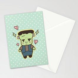 Kawaii Little Frankenstein Stationery Cards