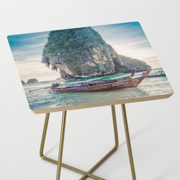 Boat in the sea Side Table