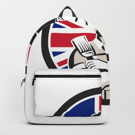 British DIY Expert Union Jack Flag Icon Backpack