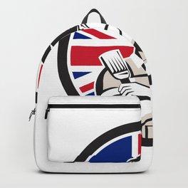 British DIY Expert Union Jack Flag Icon Backpack