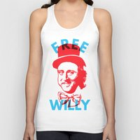 willy wonka Tank Tops featuring Free Willy (Wonka) by Tabner's