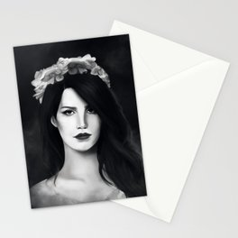 Dark Paradise (B&W) Stationery Cards