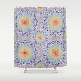 Mandala of rainbow Shower Curtain